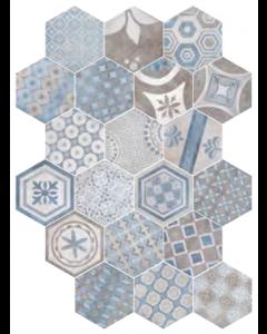 Marshalls Tile and Stone New Orleans Bourbon Street Hexagonal Decor Tile - 240x277mm