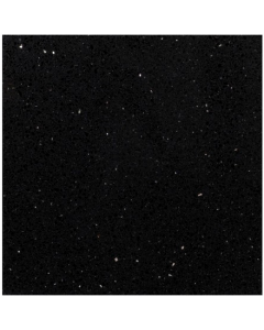 Starlight Black Polished Quartz Tile - 600x600mm