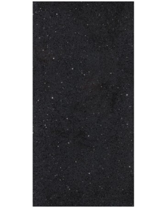 Starlight Black Polished Quartz Tile - 600x300mm