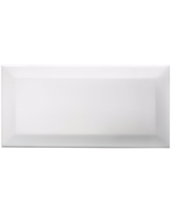 Underground White Ceramic Wall Tile - 200x100mm