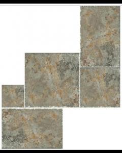 Indian Stone Multicolour Layout 6 Tiles