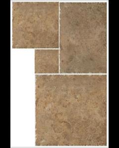 Indian Stone Autumn Rust Layout 5 Tiles