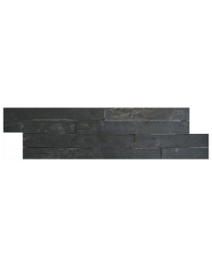 Ledgestone Splitface Tiles Thin Black - 400x100mm