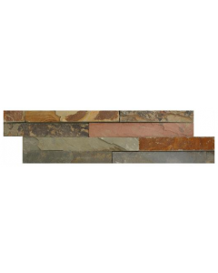Ledgestone Splitface Tiles Thin Multi-Colour - 400x100mm