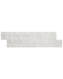 Ledgestone Splitface Tiles Thin White - 400x100mm