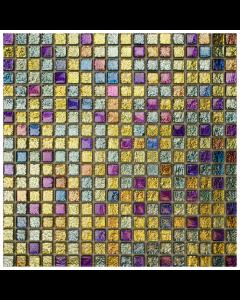 Romantic Chromatic Harlequin Mosaic Tiles - 305x305mm
