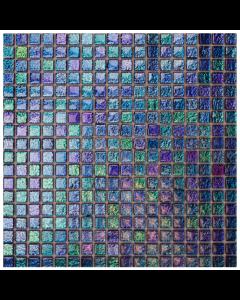 Romantic Chromatic Azurite Mosaic Tiles - 305x305mm