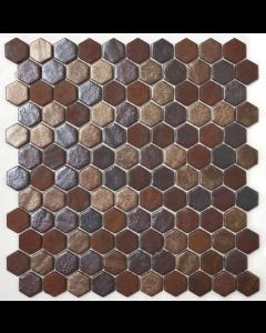 Hexagonal Mosaic Tiles Oxido Tiles - 301x290mm