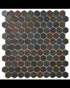 Hexagonal Mosaic Tiles Dark Slate Tiles - 301x290mm