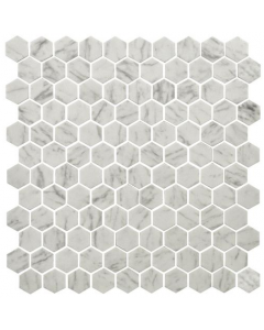 Hexagonal Mosaic Tiles Carrara Tiles - 301x290mm