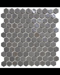 Hexagonal Mosaic Tiles Stoneglass Grey Tiles - 301x290mm