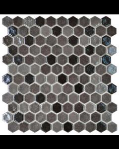 Hexagonal Mosaic Tiles Blend Tan Tiles - 301x290mm