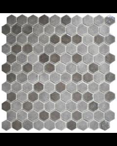 Hexagonal Mosaic Tiles Blend Taupe Tiles - 301x290mm
