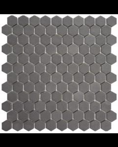 Hexagonal Mosaic Tiles Natureglass Opalo Grey Tiles - 301x290mm