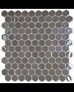 Hexagonal Mosaic Tiles Opalo Grey Tiles - 301x290mm