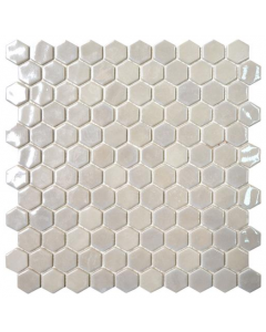 Hexagonal Mosaic Tiles Opalo White Tiles - 301x290mm