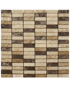 Spanish Emperador Mix Mosaic Tiles 1 - 305x305mm