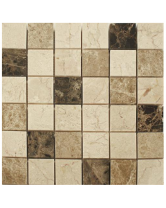 Spanish Emperador Mix Mosaic Tiles 2 - 305x305mm