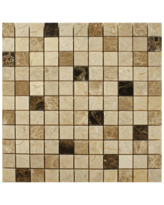 Spanish Emperador Mix Mosaic Tiles 3 - 305x305mm