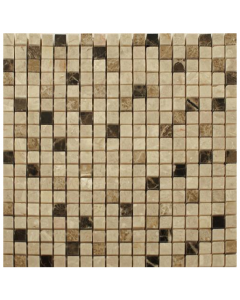 Spanish Emperador Mix Mosaic Tiles 4 - 305x305mm