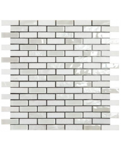 Smart Mosaic Tiles Stonebrick White Mosaic Tiles 300x300mm