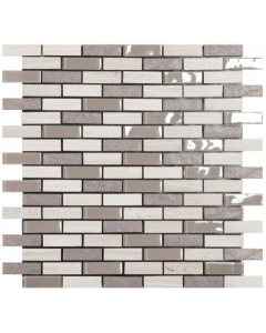 Smart Mosaic Tiles Stonebrick Grey Mosaic Tiles 300x300mm