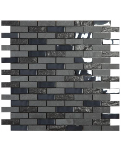 Smart Mosaic Tiles Stonebrick Black Mosaic Tiles 300x300mm