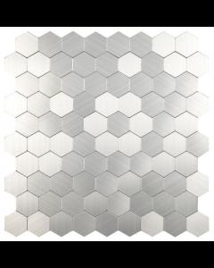 Smart Mosaic Tiles Hexagon Silver Mosaic Tiles 300x300mm