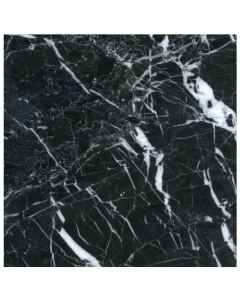 Aston Marble Black Veined Tile 400x400mm