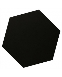 Victorian Unglazed Hexagon Tiles Black 10x10cm