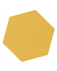 Victorian Unglazed Hexagon Tiles Ochre Yellow 10x10cm