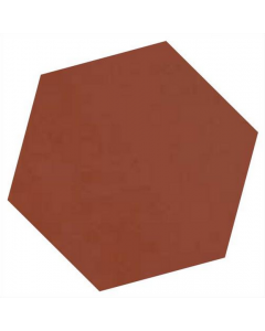 Victorian Unglazed Hexagon Tiles Red 10x10cm