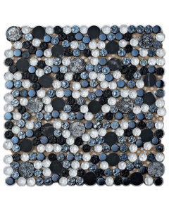 Planets Silver Mixed Mosaics - 300x300mm