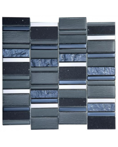 Stripes Carbon Multi Mosaic - 300x300mm