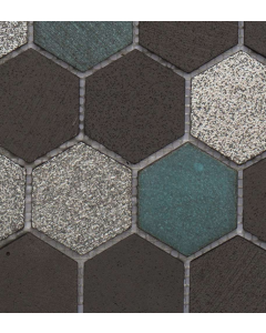 Marshalls Tile and Stone Avalon Lava Hexagon Mosaic -  305x260m