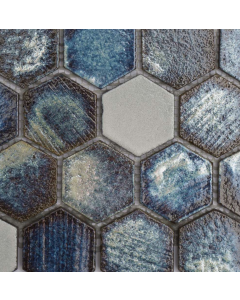 Marshalls Tile and Stone Maldives Lava Hexagon Mosaic -  305x260m