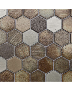 Marshalls Tile and Stone Lava Tanzania Hexagon Mosaic -  305x260m