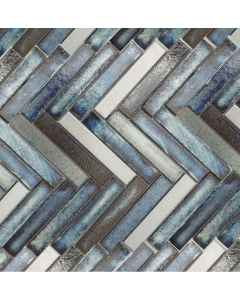 Marshalls Tile And Stone Lava Maldives Herringbone Mosaic - 325x267mm