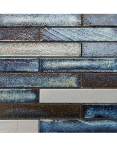 Marshalls Tile And Stone Maldives Lava Stick Mosaic - 253x240mm