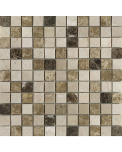 Emperador Mix Polished Marble Mosaic 25x25mm