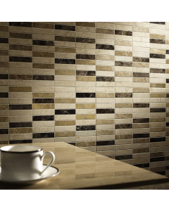 Expresso Polished Marble Mosaic 23x100mm