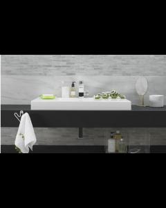 Tech Marble White Glazed Porcelain W&F 308x615mm