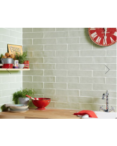 Handmade Sage Ceramic Wall tile  75x300mm