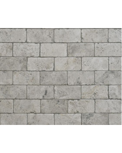 Silver Shadow Grey Tumbled Marble W&F 100x100mm