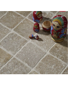 Noce Tumbled Travertine W&F 100x100mm