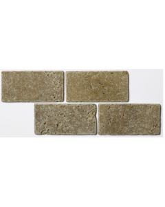 Noce Tumbled Travertine W&F 75x152mm