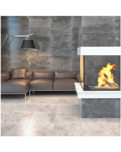 Yurtbay Ceramica Tiles Alda Tiles Anthracite Stone Effect 60x40 Wall and Floor Tiles