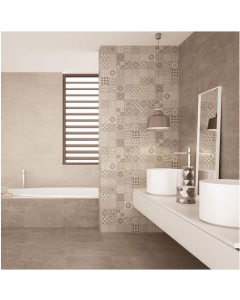 AB Ceramics Metropoli Brown Isole Decor Ceramic Wall Tiles 500x200mm