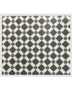 Continental Tiles Dual Gres Heritage Collection Star Black Feature Wall and Floor Tiles 45x45