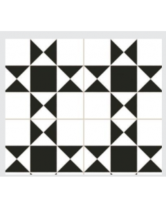 Continental Tiles Dual Gres Heritage Collection Cardiff White Feature Wall and Floor Tiles 45x45
